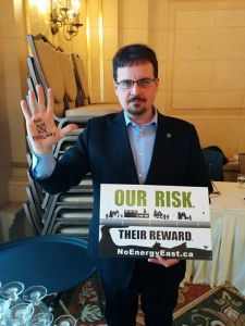 April 11, 2015 David Nickarz at Our Risk Their Reward talk at Fort Garry Hotel.